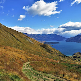 by Phil Bear - Landscapes Mountains & Hills ( wanaka, hills, roy's peak, mountains, lake, lake wanaka, new zealand )
