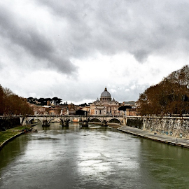 The Eternal City, ROME ... Tiber River with Vatican City as a Background ...city by Maritha Graph - City,  Street & Park  Skylines ( rome, eternal, vaticancity, vatican, tiberriver, tiber, iloverome, roma )