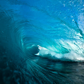 Hollow Bend by Burg Thurston - Nature Up Close Water ( thurston photo, love, epic, hollow, blue, wave, bend, sea, power, ocean )
