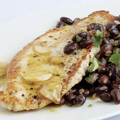 Turkey Cutlets and Black Beans with Tangerine-Habanero Mojo Sauce
