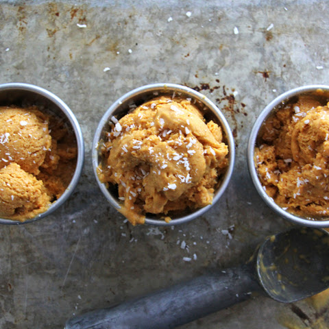 No Churn Pumpkin Coconut Ice Cream