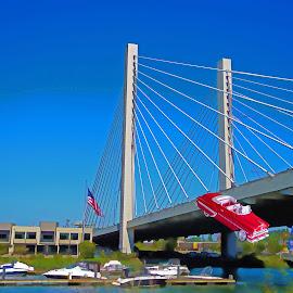Over The Bridge by Will McNamee - Digital Art Things ( patty_j_ball@hotmail.com; donaldbarber11@msn.com; donaldbarber11@msn.com; d3a1@aol.com;  postholes2002@yahoo.com; )