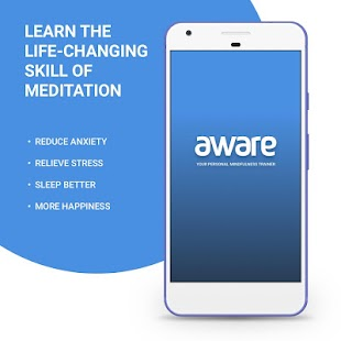 Aware - Mindfulness Meditation Fitness app screenshot for Android