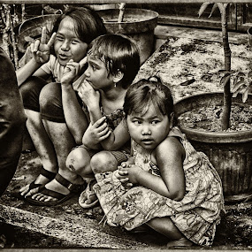 The Sisters by Suryo Pandoyo - Babies & Children Children Candids