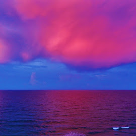 Florida Pink Clouds 2016 by Matthew Beziat - Landscapes Cloud Formations ( sunshine state, jensen beach, treasure coast, atlantic ocean, pink skies, hutchinson island south, florida sunsets, pink clouds, hutchinson island, cloud formations, pink sky, sunsets, florida, southern florida, pink, south florida )