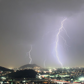 Tormenta electrica 2 by Heriberto Balbuena - Landscapes Weather ( thunder, storm, nightscape )