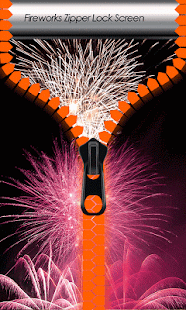 Fireworks Zipper Lock Screen - screenshot