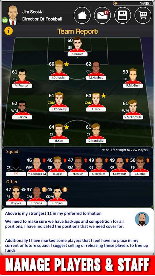 Club Soccer Director - Soccer Club Manager Sim Screenshot 5