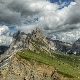 by Mario Horvat - Instagram & Mobile iPhone ( dolomites, mountains, italia, seceda, clouds, dolomiti, italy,  )
