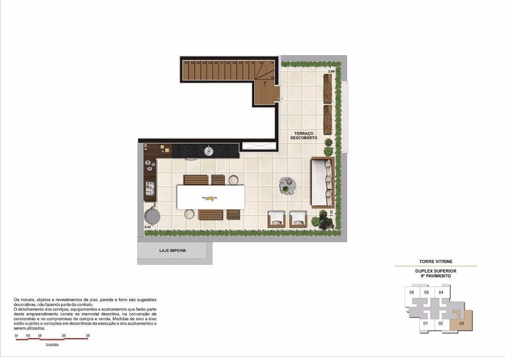 Planta 119 m² (Duplex Superior) - Final 3 Torre Vitrine