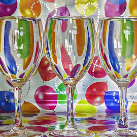 the three glasses by Enzo Di Paola - Food & Drink Alcohol & Drinks ( colour, water, glass art, coloured, glasses, coloful, colorful, color, glass, colorfill, colours )