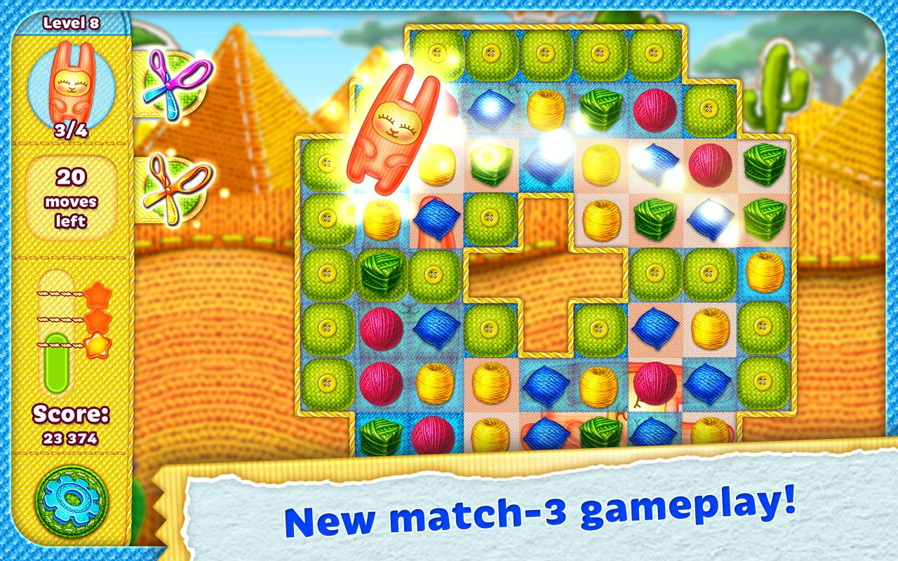 Rolling Yarn: Amazing Puzzle Screenshot 1