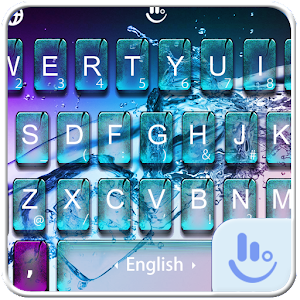 Breaking Glass Water FREE Keyboard Theme For PC