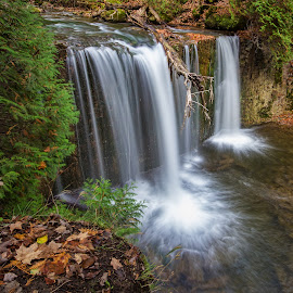 Hoggs Falls by Carl Chalupa - Landscapes Waterscapes ( waterfalls, waterfall )