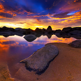 Refleksi senja by Dany Fachry - Landscapes Beaches