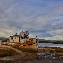 Boated by Hanif Khosravi - Landscapes Beaches ( #flooded, #, #boat,  )