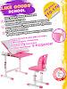 миниатюра Парта растущая детская ( стол письменный и стул ) с функцией мольберта и встроенным рулоном бумаги , Like Goods, School, N2, розовая