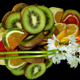 citrus,candys with flowers by LADOCKi Elvira - Food & Drink Fruits & Vegetables ( citrus, fruits )