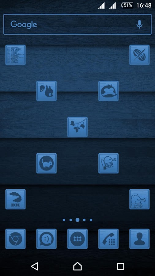 Wooden Icons Blue Screenshot 1