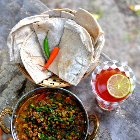Spinach & Moong Beans Curry
