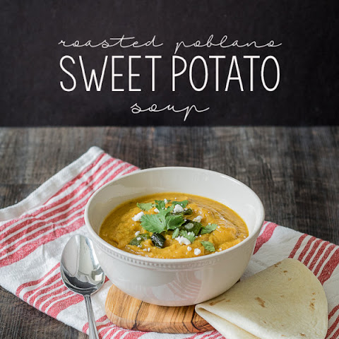 Roasted Poblano Sweet Potato Soup