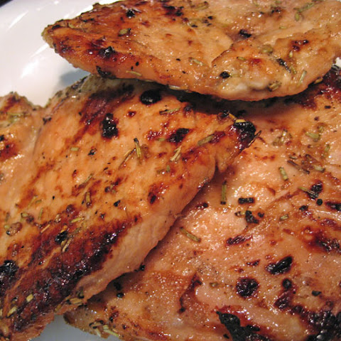 Grilled Turkey Cutlets, Mustard / Soy Marinade