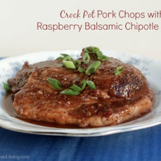 Crock Pot Pork Chops with Raspberry Balsamic Chipotle Sauce