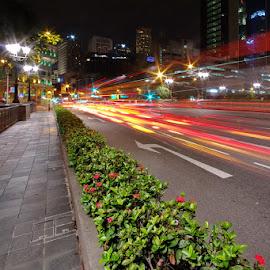 Busy Road by Ken Goh - City,  Street & Park  Street Scenes