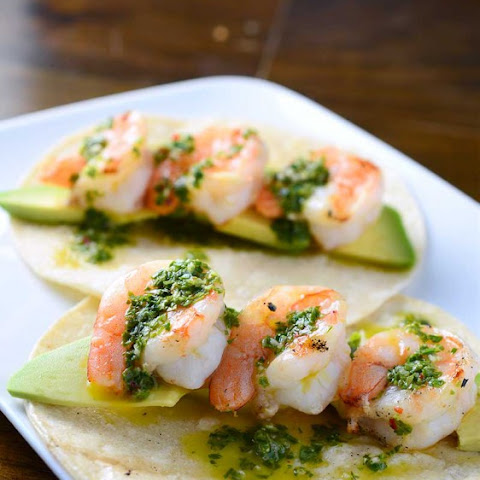 avocado chimichurri sauce shrimp tacos with avocado chimichurri sauce ...