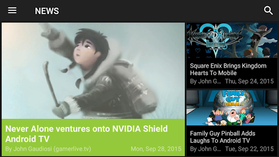NVIDIA SHIELD Hub- screenshot thumbnail