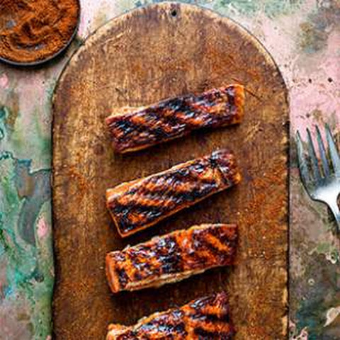 Apricot-Chile Glazed Salmon