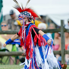 Powwow Dancer by Jon Harvey - People Musicians & Entertainers ( mohica, color, indian, dancer, powwow )