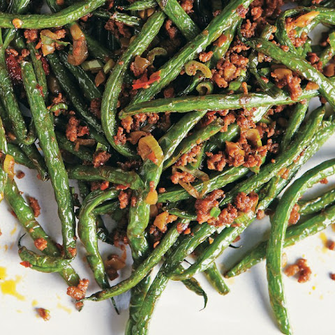 Dry-Fried Snap Beans With Ground Pork