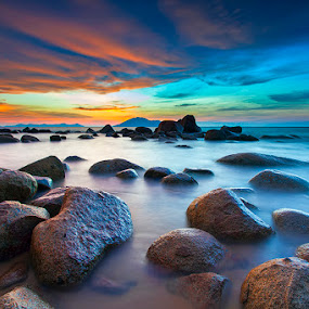 Quietness by Andre Adhie - Landscapes Waterscapes ( #landscape #sky #seacape #sunset #color )