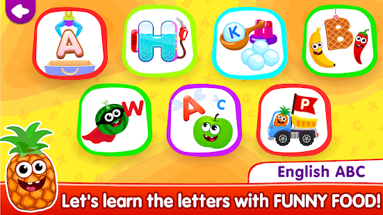 Funny Food ABC games for toddlers and babies for pc