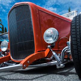 Deucer by Jebark Fineartphotography - Transportation Automobiles ( car, deuce, automobile, roadster, hot rod, 1932, convertible, custom )