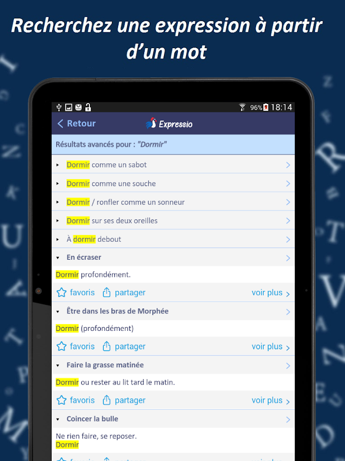 Dictionnaire Expressio Screenshot 10