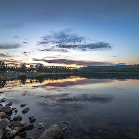 cloud reflections by Benny Høynes - Landscapes Cloud Formations ( clouds, canon, sweden, bennyhøynes, colors, lake )