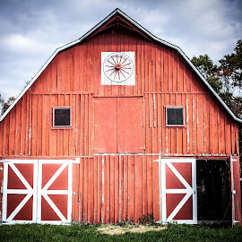 Red Barn by Angela Sweeney Sellards - Buildings & Architecture Other Exteriors ( farm, red, barn, family farm, storage )