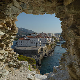 A glimpse of Andros - Greece by Bill Peppas - Landscapes Travel ( houses, old, hellas, andros, wwii, greek, ruin, greece, land, sea, stone, ocean, chora, cave, cyclades, city, island, kyklades, ruins, castle, view, town, stones, hole )