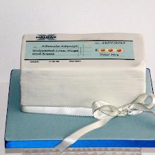 Chequebook Cake