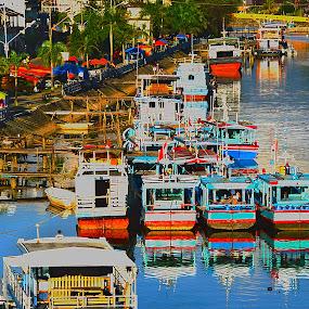 Boarding by Mohd Khairil Hisham Mohd Ashaari - Transportation Boats ( harbour, river, water, boat, transportation,  )