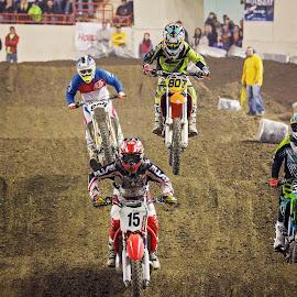 Arenacross by Tony Bendele - Sports & Fitness Motorsports ( motocross, event, racing, dirtbike, sports, mx, arenacross, ax, people )