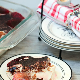 No Bake Strawberry Tiramisu Ice Box Cake