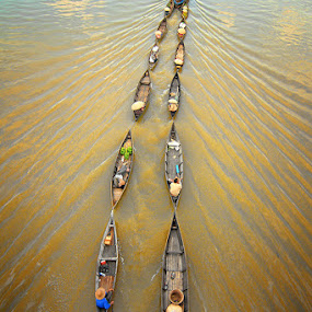Going Home Together by Sofian Anwar - Transportation Boats ( boats, floating, transportation, river )