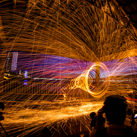 Blast The Roof by Juz AnDy - Abstract Fire & Fireworks ( fisheye, 70d, penang, steelwool, myr, malaysia, my, dslr )