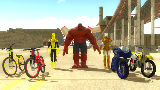 Superheroes on happy wheels For PC