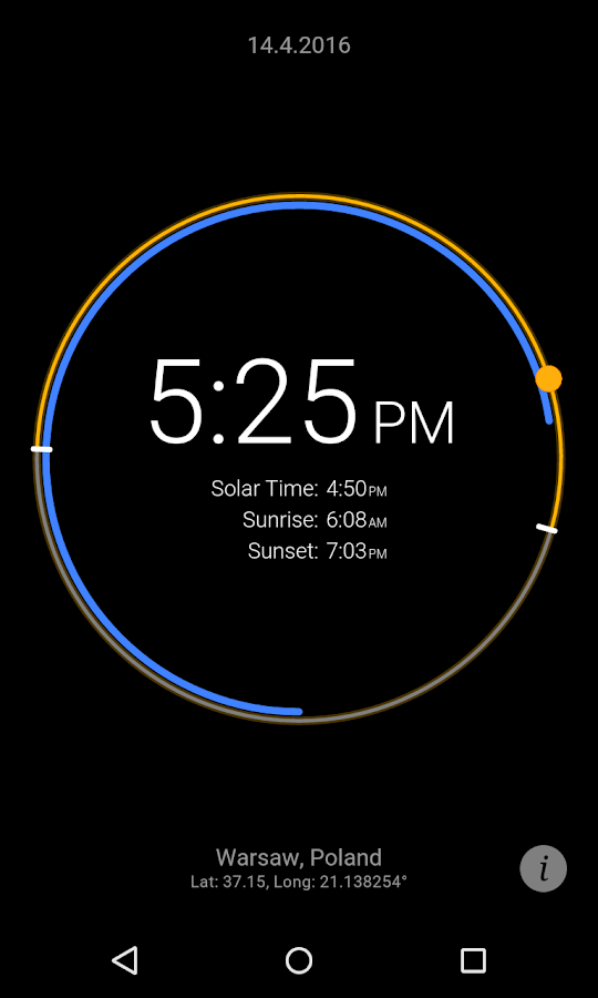 Sun Clock Screenshot 2
