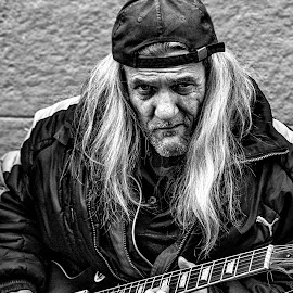 Belgrade Blues Man by Vladimir Jablanov - People Musicians & Entertainers