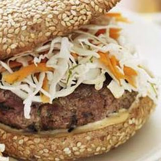 Gingered Burgers with Lime Slaw